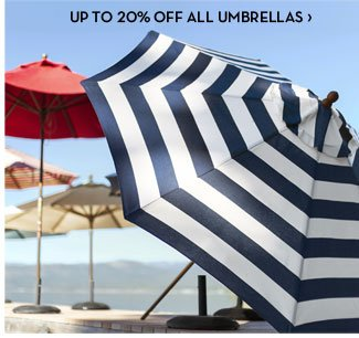 UP TO 20% OFF ALL UMBRELLAS