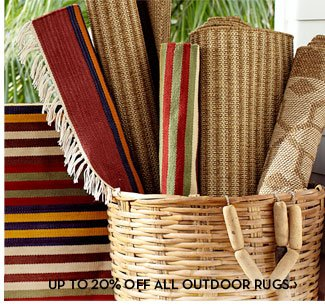 UP TO 20% OFF ALL OUTDOOR RUGS