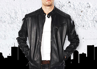 Public School Leather Spring Jackets for Him