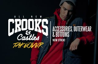 Crooks and Castles: Accessories, Outerwear, & Bottoms