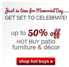 Just in time for Memorial Day...GET SET TO CELEBRATE! shop hot buys