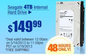 $149.99 -- Seagate 4TB Internal Hard Drive