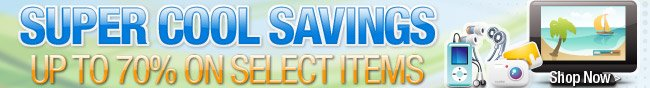 SUPER COOL SAVINGS. UP TO 70% ON SELECT ITEMS. SHOP NOW.