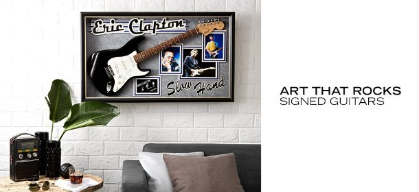 ART THAT ROCKS: SIGNED GUITARS, Event Ends May 22, 9:00 AM PT >