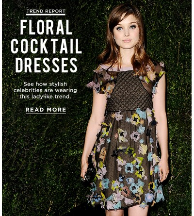 Your Spring Must-Have? A Floral Cocktail Dress