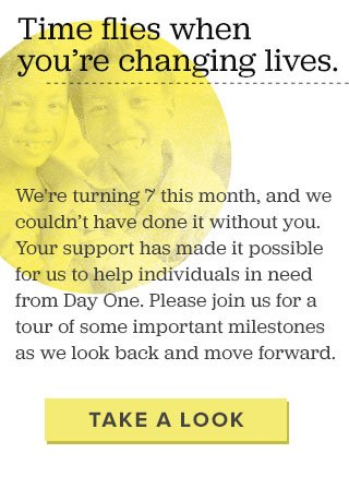 Time flies when you're changing lives - Take a look