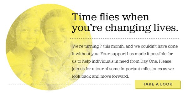 Time flies when you're changing lives. Take a look.