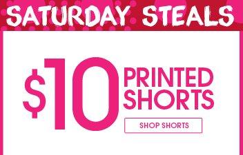 Shop $10 Printed Shorts