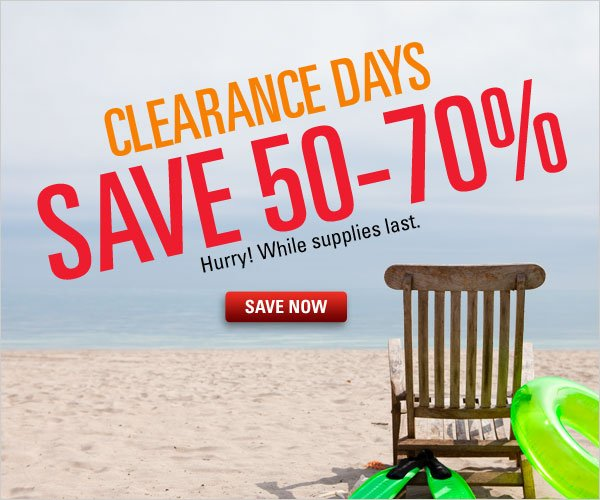 Summer Clearance Save 50-70%