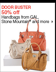 DOOR BUSTER 50% off Handbags from GAL, Stone Mountain® and more