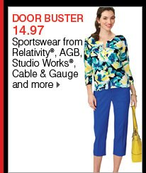 DOOR BUSTER 14.97 Sportswear from Relativity®, AGB, Studio Works®, Cable & Gauge and more