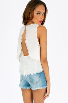 DOUBLE SCALLOPED TANK 26