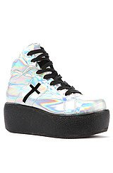 The Cross Trainer Shoe in Rainbow Silver
