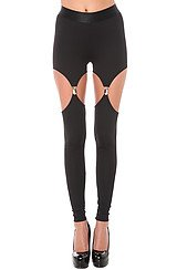 The Cutout Garter Ponte Legging