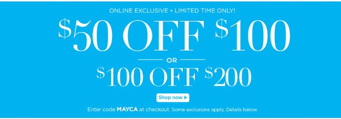 $50 off $100 or $100 off $200
