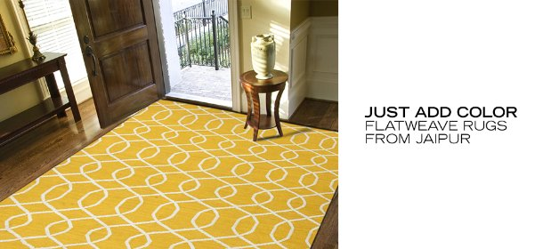 JUST ADD COLOR: FLATWEAVE RUGS FROM JAIPUR, Event Ends May 23, 9:00 AM PT >