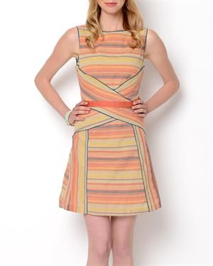 Esley Striped Sleeveless Dress