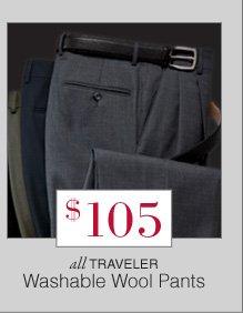 $105 USD - Traveler Washable Wool Pants