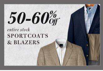 50-60% Off* Sportcoats & Blazers