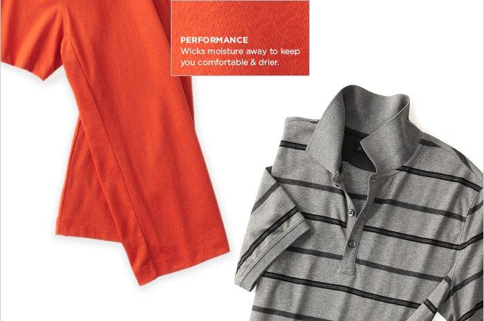 PERFORMANCE | Wicks moisture away to keep you comfortable & drier.