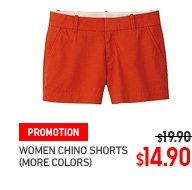 WOMEN CHINO SHORTS