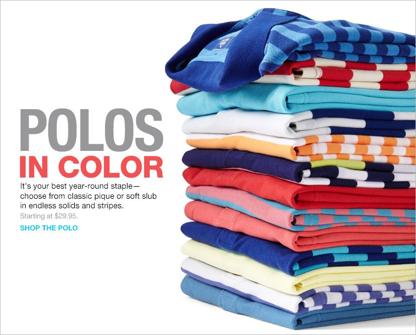 POLOS IN COLOR | SHOP THE POLO