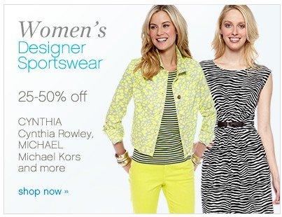Women's Designer Sportswear 25-50% off. Shop now.
