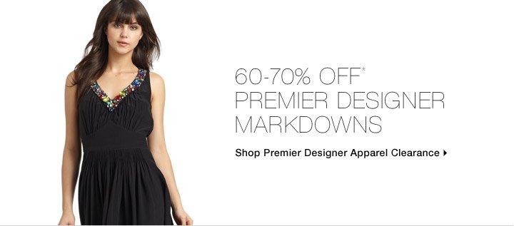 60-70% Off* Premier Designer Markdowns