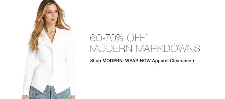 60-70% Off* Modern Markdowns