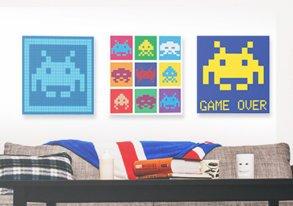 Shop Canvas Prints ft. Space Invaders