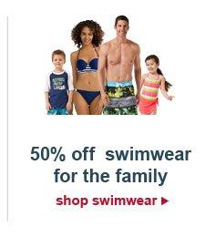 50% off swimwear for the family | shop swimwear