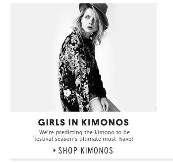 GIRLS IN KIMONOS - Shop Kimonos