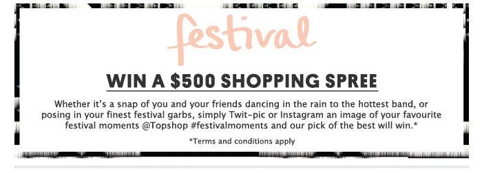 Win a $500 shopping spree