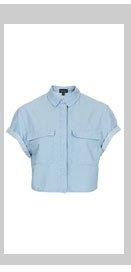 MOTO Short Sleeve Crop Shirt