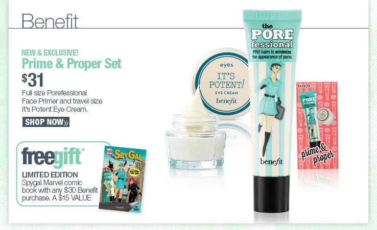 NEW & EXCLUSIVE! Benefit Prime & Proper Set. $31 SHOP NOW.
