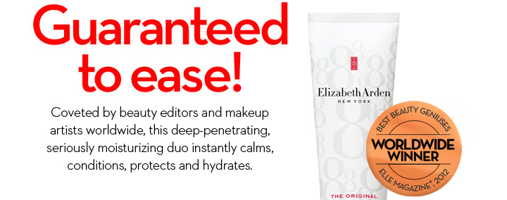 Guaranteed to ease! Coveted by beauty editors and makeup artist worldwide, this deep penetrating, seriously moisturizing duo instantly calms, conditions, protects and hydrates. BEST BEAUTY GENIUSES. WORLDWIDE WINNER. ELLE MAGAZINE*, 2012.