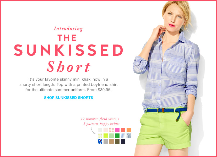 Introducing THE SUNKISSED Short | SHOP SUNKISSED SHORTS
