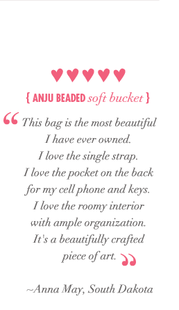 Anju Beaded Soft Bucket