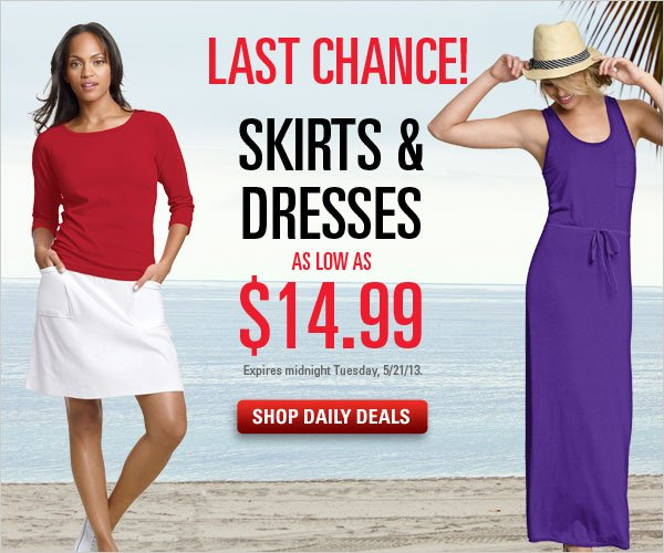 Skirts & Dresses as low as $14.99