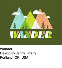 Wander - Design by Jenny Tiffany / Portland, OR, USA
