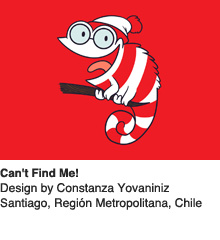Can't Find Me - Design by Constanza Yovaniniz / Santiago, Chile