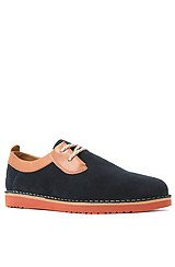 The Oswald Shoe in Navy & Dark Tan