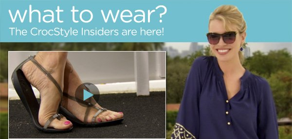 what to wear? The CrocStyle Insiders are here!