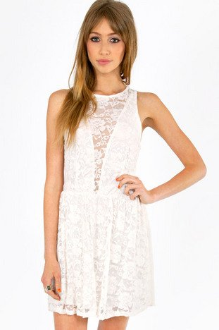 SHELLY LACE SKATER DRESS 26
