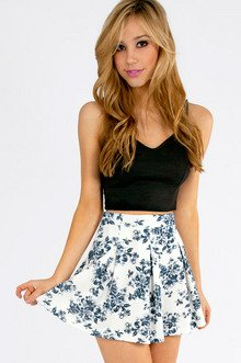 FLORAL IT'S WORTH SKATER SKIRT 33