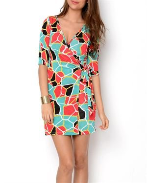 Renee C. Printed Wrap Dress - Made In USA