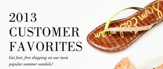 2013 Customer Favorites Shop Sandals