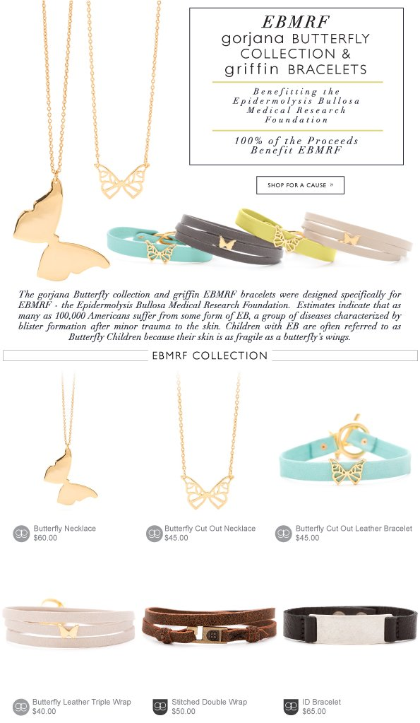 EBMRF gorjana Butterfly Collection