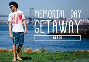 Shop Memorial Weekend Getaway: Beach