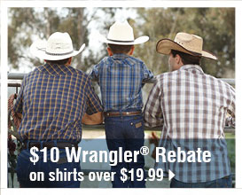 $10 Wrangler® Rebate on shirts over $19.99